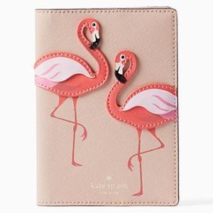 KATE SPADE ♠︎ Pink Flamingos Passport Holder NWT